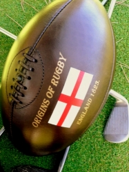 Vintage Rugby Ball with printing Manufacturers in rajkot
